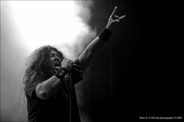 Chuck Billy - vocal of Testament on Metal Camp festival 2009. Tolmin - Slovenia.